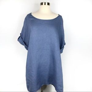 Dresses & Skirts - Chambray Italian Linen Tunic Dress Large